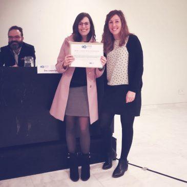 Silvia González, Premio al mejor póster en la 3ª Jornada de SADENO