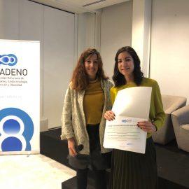 La Dra. Ares, Premio al Mejor Póster en la IV Jornada SADENO